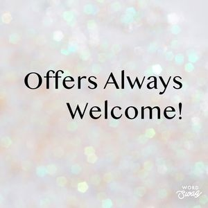 Your offer is always welcome!